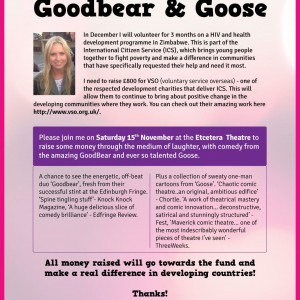 An evening of comedy with Goodbear and Goose